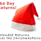 Returns Period Extended To 60 days in the run up to Christmas