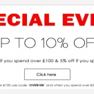 Special Online Event - Save up to 10% off your order during November!