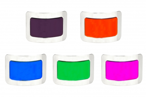 Square Buckles with Coloured Glaze Centres