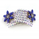 Blue Flower Diamante Buckle