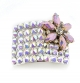 Light Pink Flower Diamante Buckle