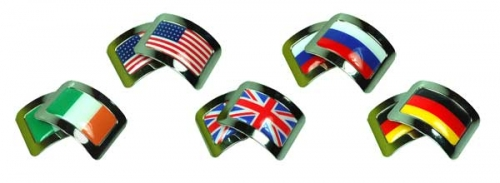 Square Buckles with Flag Inserts