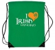 Gym Sac with Fluorescent 'I Love Irish Dancing' design