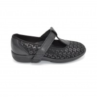 Wide Fitting Mary Jane Style Shoe Black