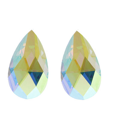 AB Pear Stud Earrings