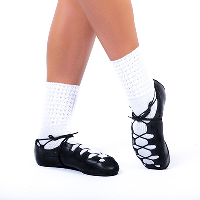 Irish Dancing Pacelli Ultra Low Small Clear Diamonted Poodle Socks