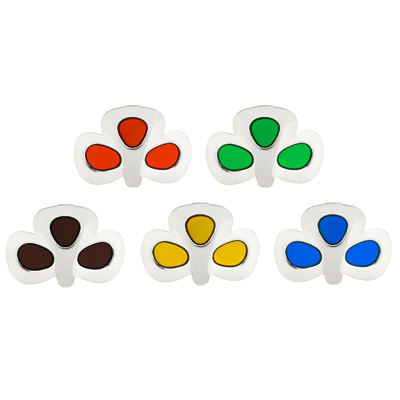 Shamrock Buckles with Coloured Glaze Centres
