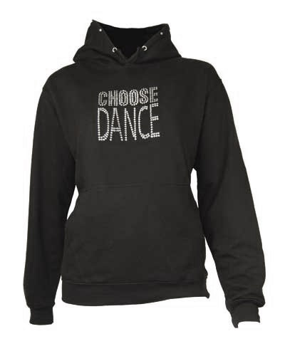 Hoodie with 'Choose Dance' diamante motif