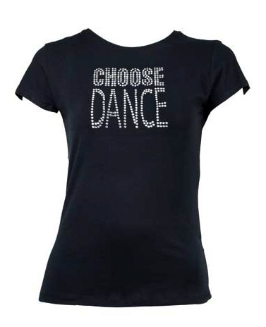 T-Shirt with 'Choose Dance' diamante motif