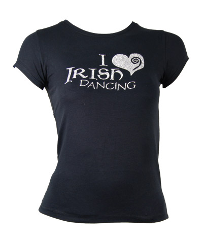 T-Shirt with 'I Love Irish Dancing' print