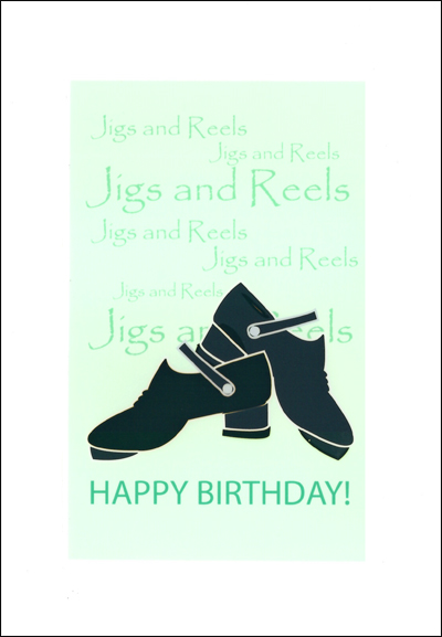 Happy Birthday Card with jig shoe design