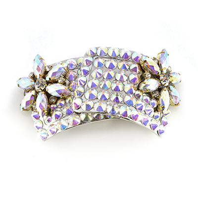 AB Flower Diamante Buckle