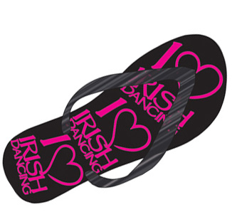 Children's 'I Love Irish Dance' Flip Flops