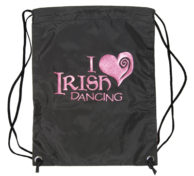 Gym Sac with Sparkly 'I Love Irish Dancing' design