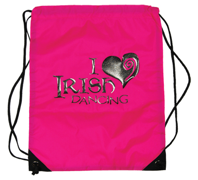 Gym Sac With Sparkly I Love Irish Dancing Design