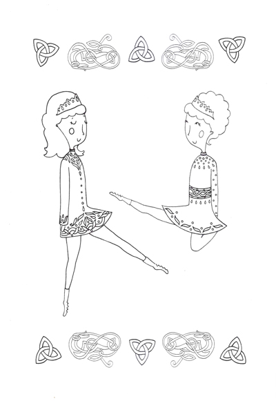 Irish Dance Colouring Book #2