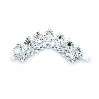 Mini Crystal Flexi Headband On White Backing