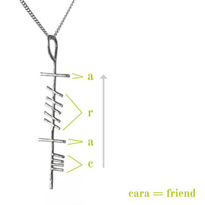 Friend - Ogham Treasure Necklace