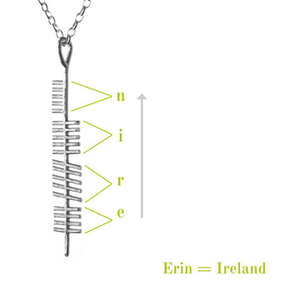 Ireland- Ogham Treasure Necklace
