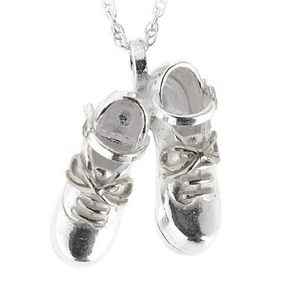 Jig Shoe Necklace in Sterling Silver