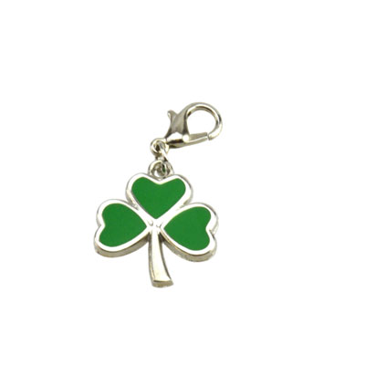 Small Shamrock Zipper / Bag Charm