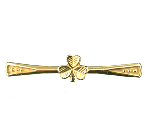 Shamrock Tie Pin in 9ct Gold